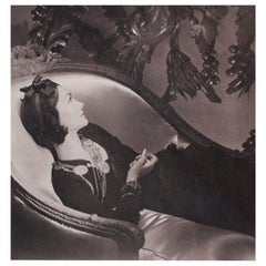 Horst P Horst Signed Photograph of Coco Chanel, Platinum Palladium Print, 1937
