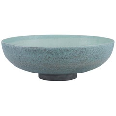 Horta Bowl in Gray and Green Ceramic by CuratedKravet