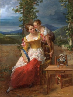 Mother and Child with a tambourine