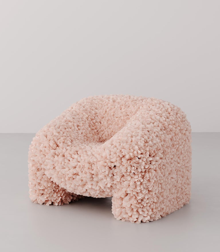 """Hortensia chair is a sculptural functional seat inspired by hydrangea flowers.  Between Image and Object, a Chair Finds its Form.  """"The aesthetic tendencies of our time call for design that transcends the boundary between the imagined and the"""