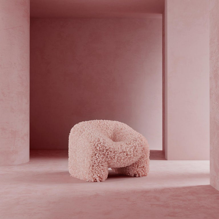 Other Hortensia Chair, Pink Sofa Abstract Flower Round Dreamy by Reisinger Andres