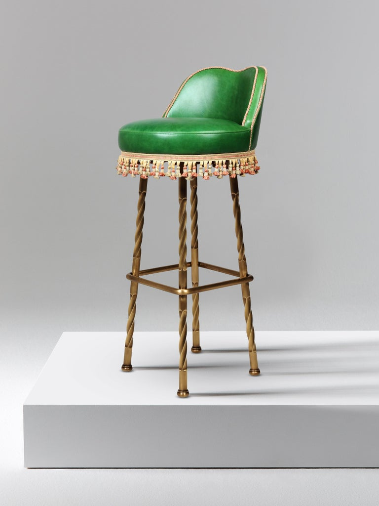 And Objects, product design studio founded by Martin Brudnizki and Nick Jeanes based in London.  Bringing a touch of glamour to the humble bar stool, the Horton bar stool is handcrafted from solid brass and features effortlessly twisted legs and an