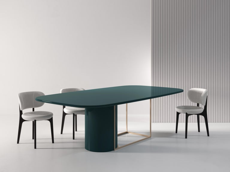 Italian Horus Contemporary Dining Table in Wood and Metal by Artefatto Design Studio For Sale