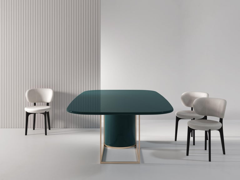 Horus Contemporary Dining Table in Wood and Metal by Artefatto Design Studio In New Condition For Sale In London, GB