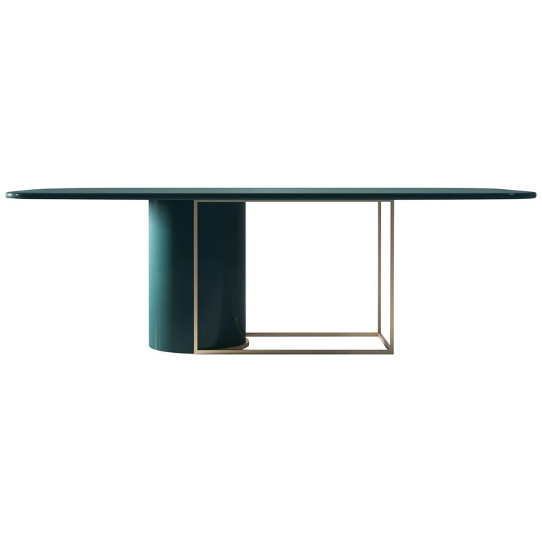 Horus Contemporary Dining Table in Wood and Metal by Artefatto Design Studio For Sale