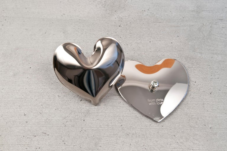 Hot Heart Hanger Polished Stainless Steel by Zieta In New Condition In Beverly Hills, CA