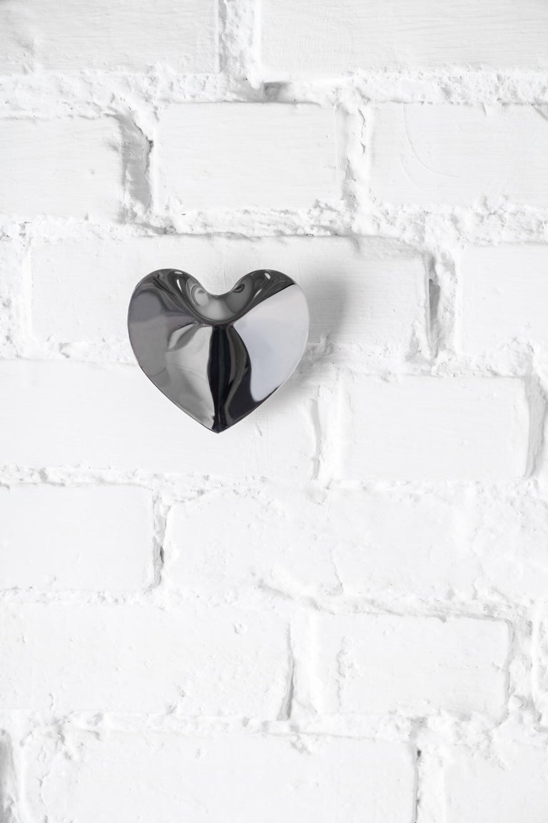 Hot Heart Hanger Polished Stainless Steel by Zieta 2