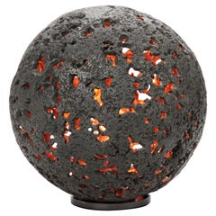 'HOT PLANET' Table Lamp, cast bronze, one-of-a-kind by Christopher Kreiling