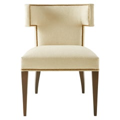 Hotchkiss Chair in Beige and Walnut by CuratedKravet