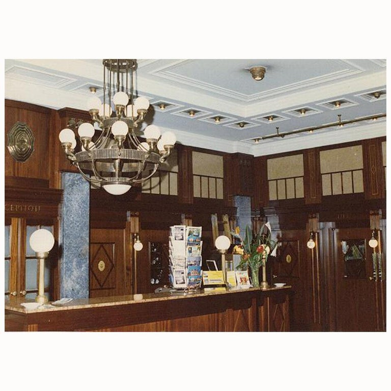 The glamourous hotel Astoria at the Kaerntner-Strasse in Vienna has been renovated in the late 1970s. All the lamps have been recreated by WOKA and Stefan Passini according to old photographs.   All components according to the UL regulations, with