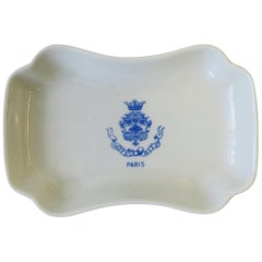 Hotel Ritz Paris Blue and White Porcelain Jewelry Dish, France