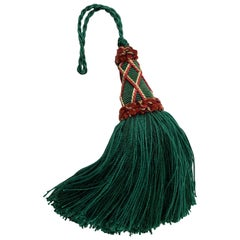 """Key Tassel"" or Gland Cle by Houles of Paris Empire Green Passementerie"