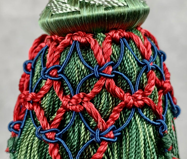 French  Passmenterie Key Tassel or Gland Cle by Houlés of Paris, Hand Tied  in Verte