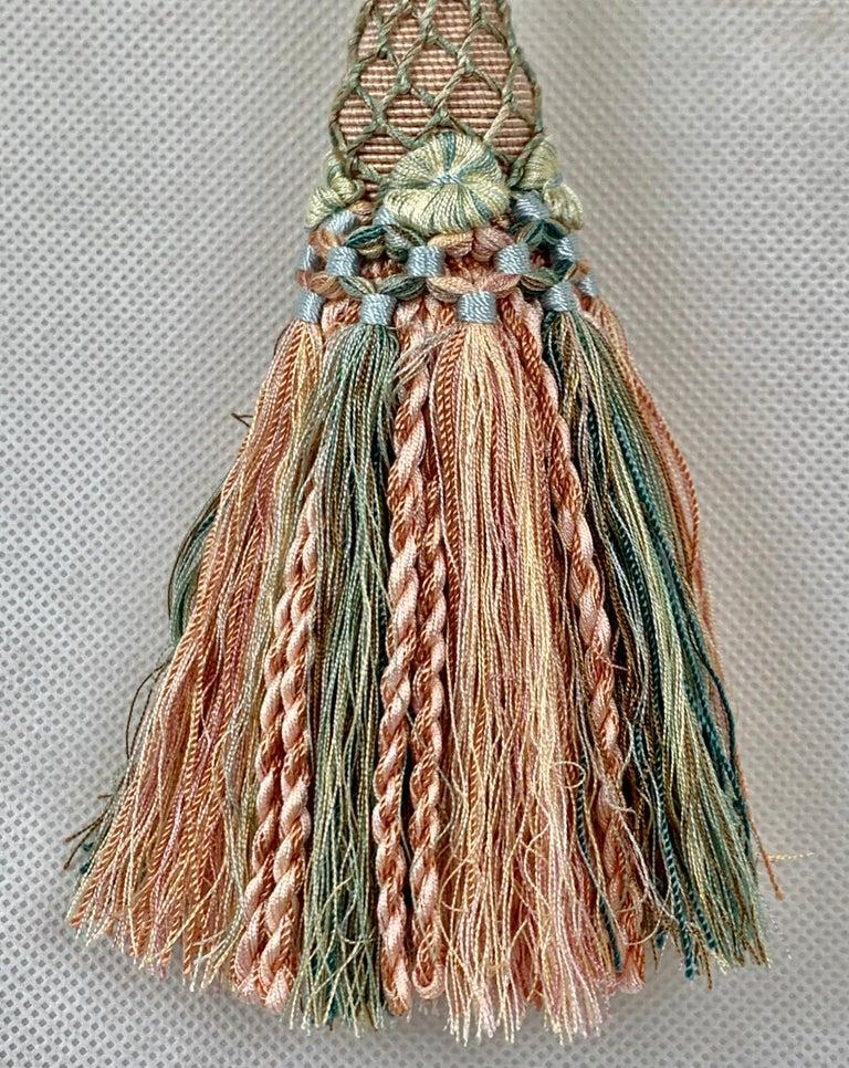 Hand-Crafted Houles of Paris Passmenterie Key Tassel in Peach