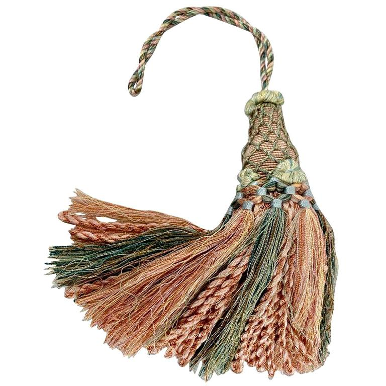 Houles of Paris Passmenterie Key Tassel in Peach