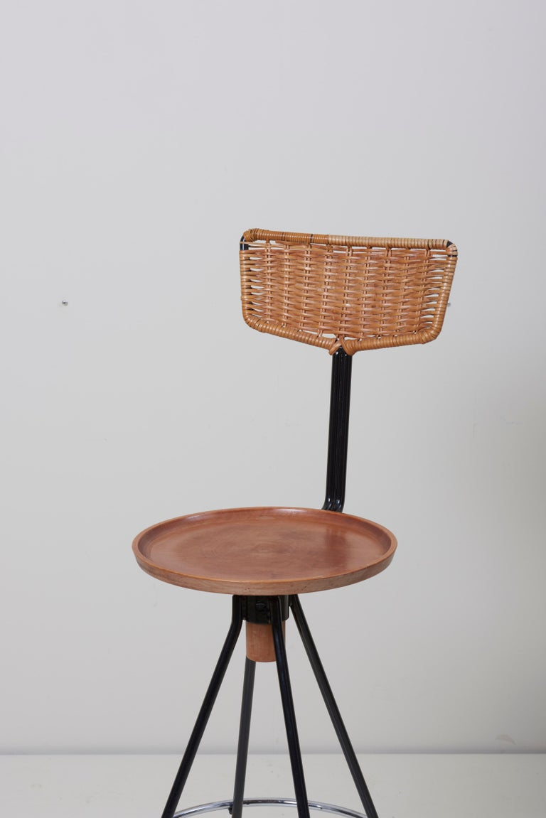 House Bar and Four Bar Stools by Prof. Herta-Maria Witzemann for Erwin Behr For Sale 2