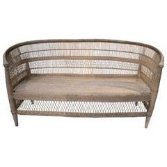 House & Garden Hand Woven Rattan Sofa w/ Wooden Structure
