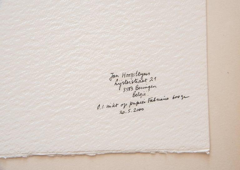 Belgian House in Kent Landscape Unframed Drawing Ink 100% Cotton Paper Intimist Modern For Sale