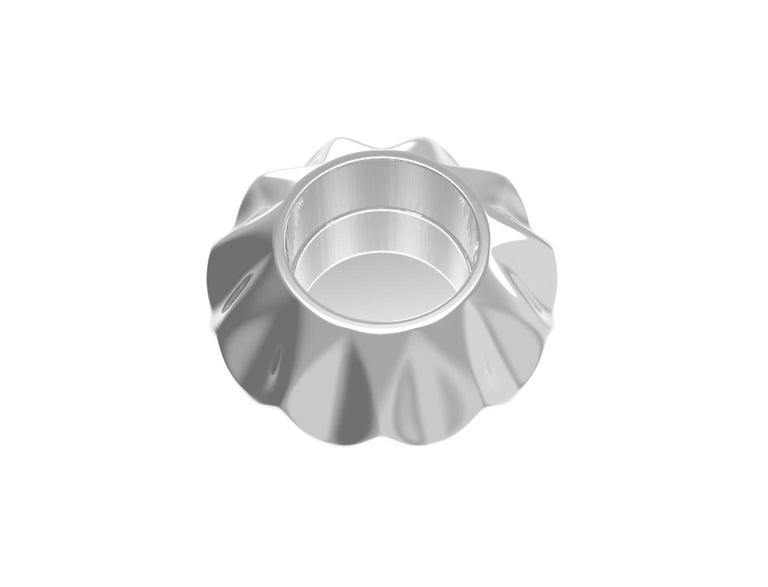 Contemporary Corall i Eriçó Sterling Silver Candle Holder Nº1 by House New York, Limited Edit For Sale