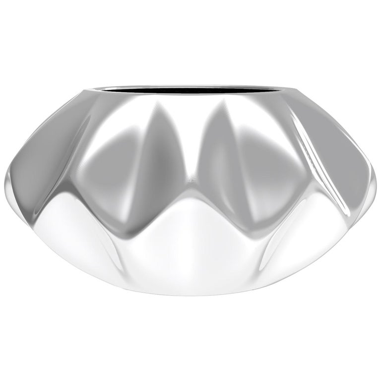 Corall i Eriçó Sterling Silver Candle Holder Nº1 by House New York, Limited Edit For Sale