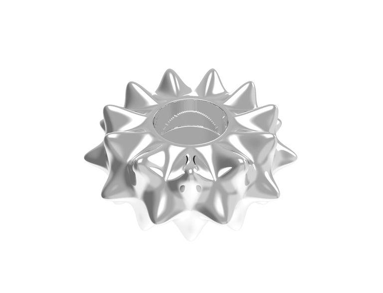 House, 2019 Sterling Silver  Inspired by the analog parametric methodology of Gaudi's architecture, Corall i Eriçó explores the micro-architectures found in corals and sea life.   Designed by House after an inspirational trip to Barcelona.  Limited