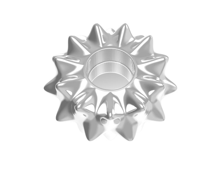 Contemporary Corall i Eriçó Sterling Silver Candle Holder Nº3 by House New York, Limited Edit For Sale