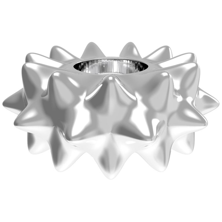 Corall i Eriçó Sterling Silver Candle Holder Nº3 by House New York, Limited Edit For Sale