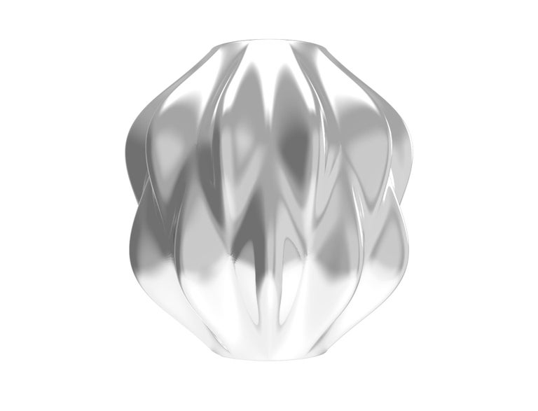 Corall i Eriçó Sterling Silver Candle Holder Nº5 by House New York, Limited Edit In New Condition For Sale In New York, NY