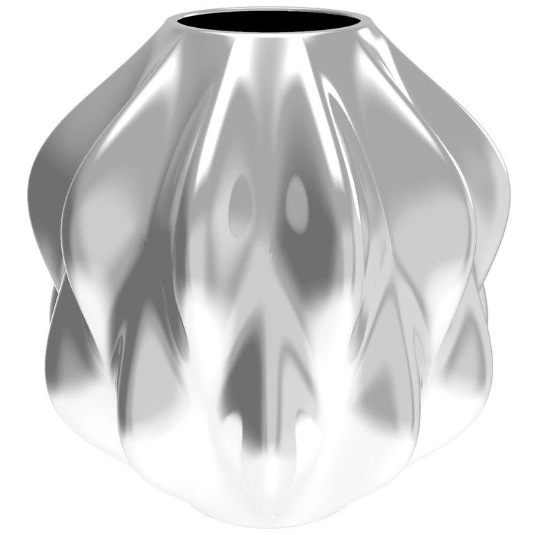 Corall i Eriçó Sterling Silver Candle Holder Nº5 by House New York, Limited Edit For Sale