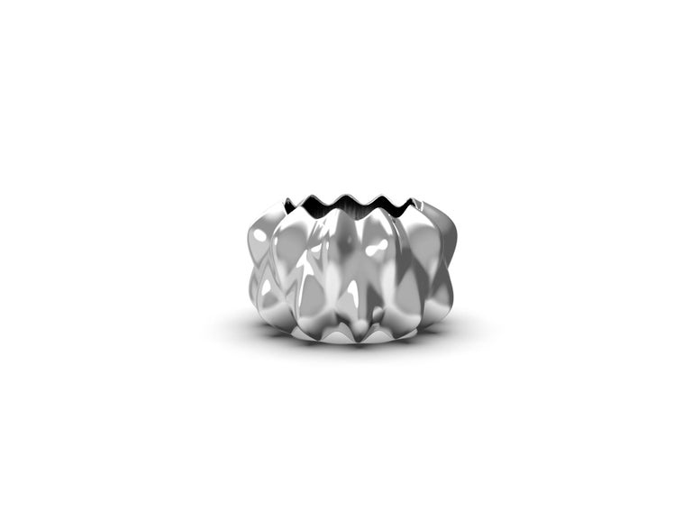 House, 2019 Sterling Silver  Inspired by the analog parametric methodology of Gaudi's architecture. Corall i Eriçó explores the micro-architectures found in corals and sea life.   Limited Edition 1 of 7  Designed by House after an inspirational trip
