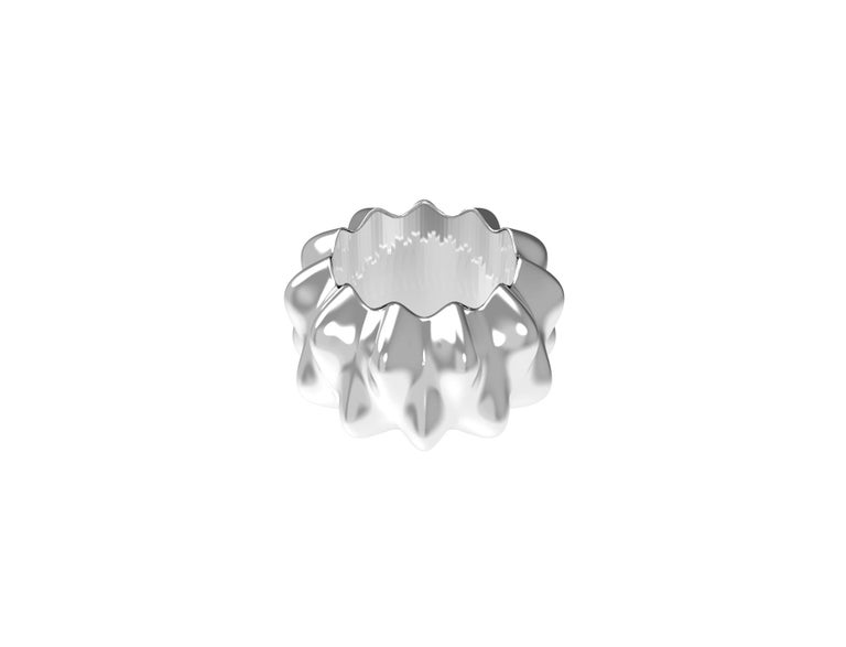Corall i Eriçó Sterling Silver Napkin Ring Nº2 by House New York, Limited Edit. In New Condition For Sale In New York, NY