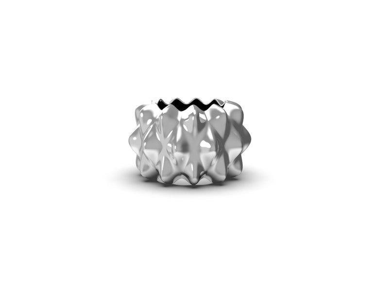 House, 2019 Sterling Silver  Inspired by the analog parametric methodology of Gaudi's architecture. Corall i Eriçó explores the micro-architectures found in corals and sea life.   Designed by House after an inspirational trip to Barcelona.  Limited