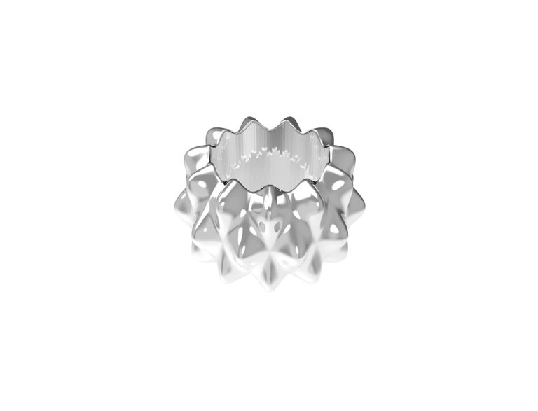 Contemporary Corall i Eriçó Sterling Silver Napkin Ring Nº3 by House New York, Limited Edit. For Sale
