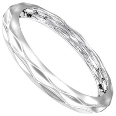 Diamant du Musée Sterling Silver Thin Bangle by House New York, Limited Edition