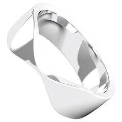 Grâce 18K Gold / Platinum Bold Ring, Wedding Band by House New York