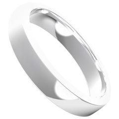 Sommet 18K Gold / Platinum Semi-Bold Ring, Wedding Band by House New York