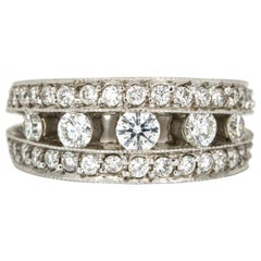 House of Baguettes 1.00 Carat 18 Karat Gold Diamond Fashion Statement Ring