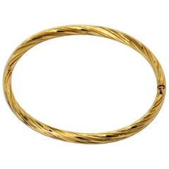 House of Bangles Yellow Gold Bangle Bracelet
