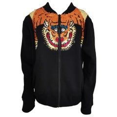 House of Mua Mua black bomber sequins tiger jacket