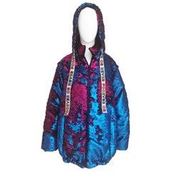 House of Mua Mua blue fucsia sequins bomber jacket