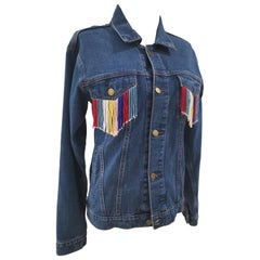 House of Mua Mua denim See You Never sequins handbeaded jacket