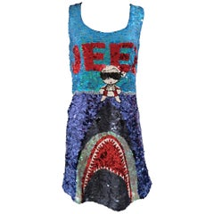 House of Mua Mua Jeez multicolour sequins handbeaded dress