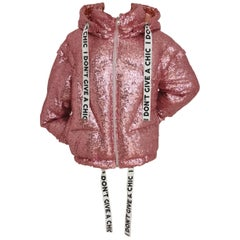 """House of Mua Mua pink sequins """"It's not you it's me"""" bomber jacket"""