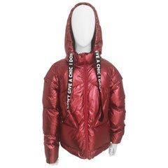 House of Mua Mua red bomber duvet jacket