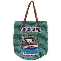 House of Muamua CocoCapri Sequins and Raffia shoulder bag