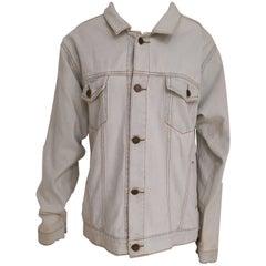 House of Muamua denim Broken Heart First aid sequins jacket