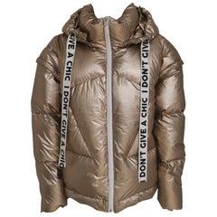 House of Muamua gold bomber jacket