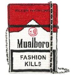 House of Muamua hand beaded mualboro red Cigarette bag