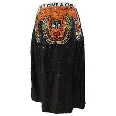 House of Muamua hand-beaded skirt