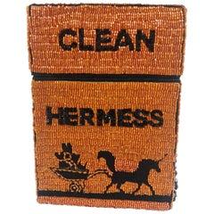 House of Muamua orange beads Clean hermess cigarette bag